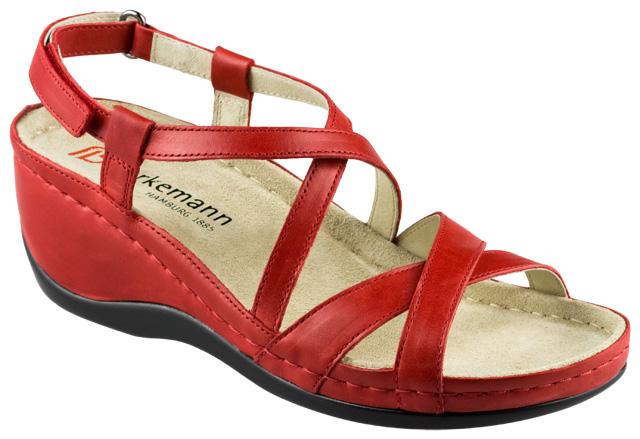 SANDALE ORTOPEDICE ANATOMICE Berkemann Coletta dama piele rosie brant original 5 etape, calcai cupa