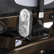 SCAUN RULANT ELECTRIC iChair MC2 6-10km/h autonom 40km max 160kg XXL motor 2x220W 5 viteze panta 15 grd - Iluminat activ cu leduri