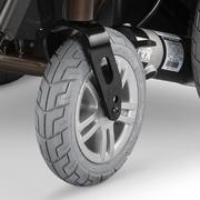 SCAUN RULANT ELECTRIC iChair MC2 6-10km/h autonom 40km max 160kg XXL motor 2x220W 5 viteze panta 15 grd - Roti frontale cu jante de aluminiu