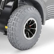 SCAUN CU ROTILE ELECTRIC OPTIMUS 2 MEYRA utilizare exterior drum accidentat calatorii lungi 50-70km - jante aluminiu